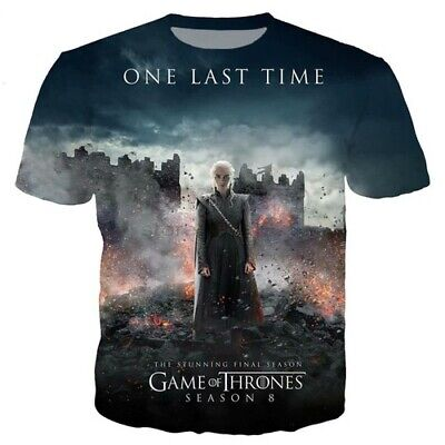 New 3D Print TV Game of Thrones Harajuku Women Men T-Shirt Short Sleeve Tee Tops