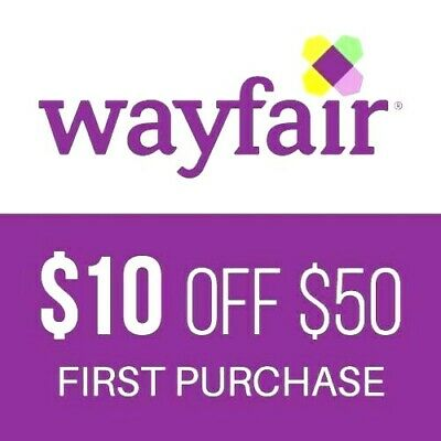 $10 off $50 Wayfair Coupon for NEW customers only **ship FAST**