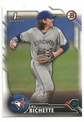 Bo Bichette 2016 Bowman Draft Base Toronto Blue Jays 1st Card BD74 Top Prospect
