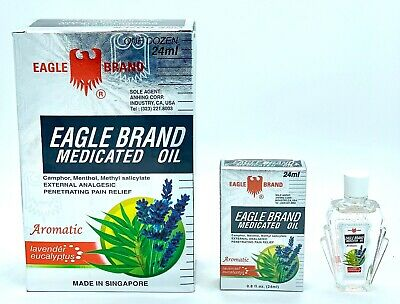 Eagle Brand Aromatic Lavender Eucalyptus Medicated Oil 24 mL Pain Relief