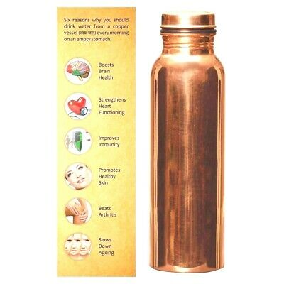 100% Pure Copper Bottle For Ayurveda Health Benefits Leak Proof Best Quality