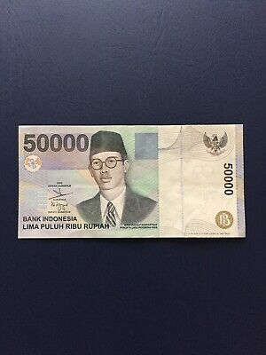 Circulated Indonesian 50k Bank Note. Ideal For An Avid Note Collector.