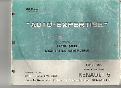 AUTO EXPERTISE N°38 01/1973 Renault 5