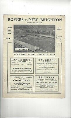 Doncaster Rovers v New Brighton Football Programme 1949/50