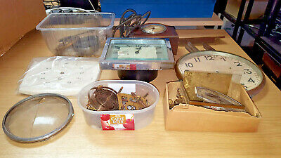 Job Lot Various Vintage Clocks Parts, Movements For Restoration Spares/Repair 14