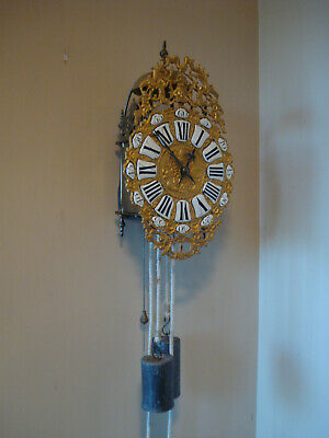 Mid 18Th C French 8 Day Running  Lantern Clock  Original Verge Escapement Gwo #2
