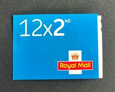 Brand New Genuine Second Class Royal Mail Letter Stamps Book of 12 Sticky Unused