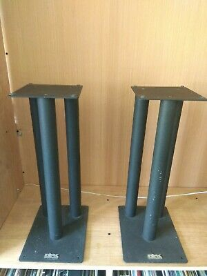 Pair Of Rax Black Quality Metal Loud Speaker Stands 50 cm heavy sturdy