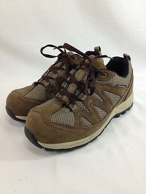 Drew Comfort Sneakers Shoes Mens 7.5 6E Brown Leather Low Top Lace Up Waterproof