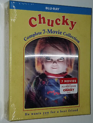 Chucky Collection Complète (1,2,3,4,5,6,7) Child's Play - Blu-Ray Coffret Scellé