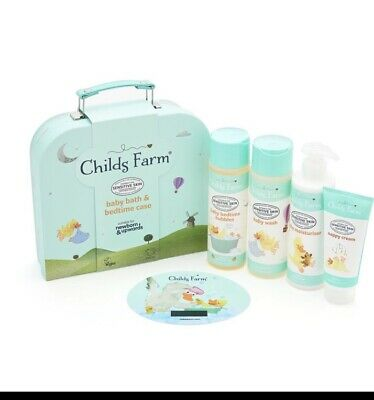 Childs Farm Baby Bath And Bedtime Case Gift Set - NEW