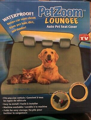 Pleasing Petzoom Loungee Auto Car Pet Seat Cover Waterproof Black Alphanode Cool Chair Designs And Ideas Alphanodeonline