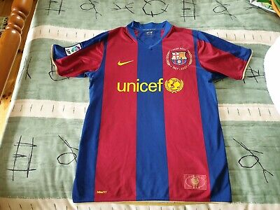 Barcelona Football Club Home Jersey 2007 to 2008 Medium Adult Nike Barca Soccer