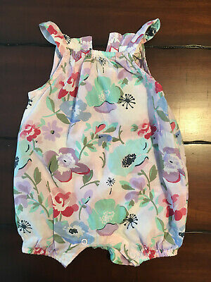 Beautiful Next Pastels Floral Baby Girls Playsuit/Romper 0-3 Months - Worn Once
