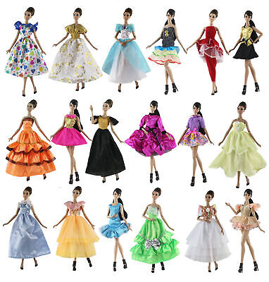 10 PCS Randomly Different Style Clothes/party dress tutu Skirt For 11.5in.Doll