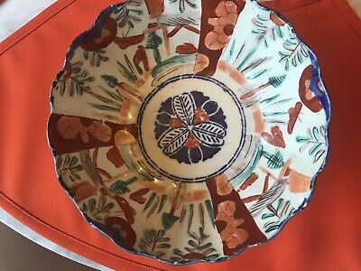 Rare Estate Collection Chinese Antique Hand Painted Porcelain Scallop Edge Bowl