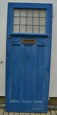 1920/30s English (potentially stained glass) front door. R920a. Delivery option.