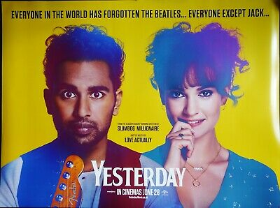 Yesterday 2019 Quad Poster Himesh Patel Lily James The Beatles Ed Sheeran