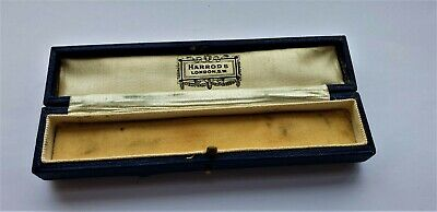 Antique Presentation Bar Brooch Or Pins Jewellery Long Box By Harrods Of London