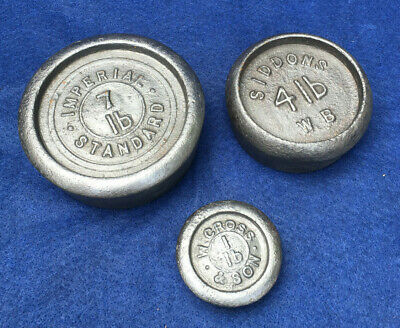 Old Cast Iron Scale Weights, by Imperial Standard, Siddons and W.Cross and Sons