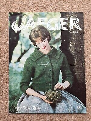 Paper Knitting Pattern ~ Vintage Jaeger 5560 Roll Collar Sweater Ladies Woman