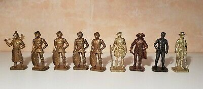Lot  de 9 Kinder Métal Cowboys ,mousquetaires,Huns