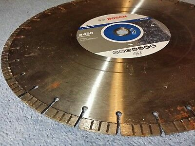 Bosch grinding disc Best Stone Diamond saw blade 450mm x 25.4mm bore 25mm 300+