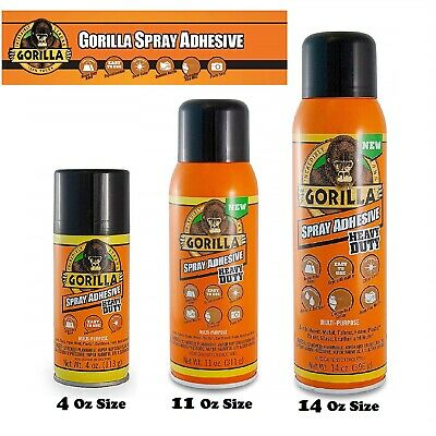 Gorilla Heavy Duty Spray Adhesive Glue Multipurpose Repositionable Clear Craft