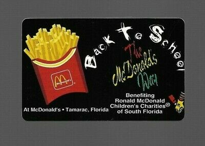 1990's McDonald's Back To School Prepaid Phone Card Cable & Wireless