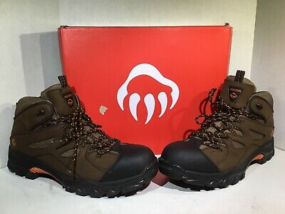 373cd8f2f03 WOLVERINE MENS OVERPASS CarbonMAX Brown Leather Safety WTP Boots ...