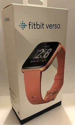Fitbit Versa Fitness Smart Watch - Peach/Rose Gold Aluminium (FB504RGPK)