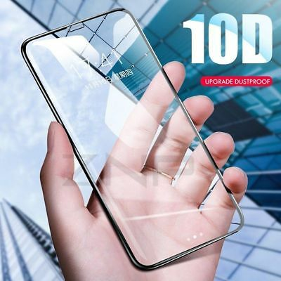 For iPhone XS Max XR X 10D Curved Screen Protector Full Cover Tempered Glass AU