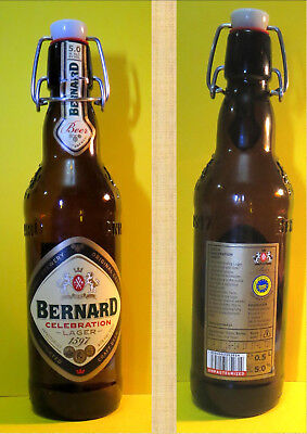 Bernard Celebration Lager Bottle (Empty) With Re-Sealable Flip-Top Cap *