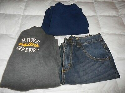 * Lot3 Boys Clothes Wrangler Blue Jeans 14 Russell Athletic Large Pants Jacket *