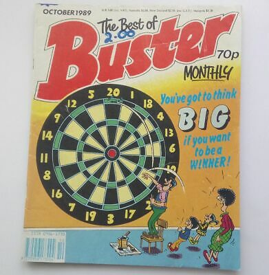The Best of Buster Monthly October 1989 Collectable Childrens Kids Comic  UK