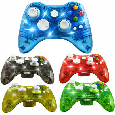LED Wireless Game Pad Controller Gamepad For Microsoft Xbox 360 & PC Win 7 8 10