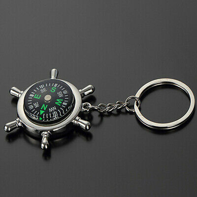 Metal Car Keyring Unisex Fashion Compass Keychain Key Chain Ring Keyfob