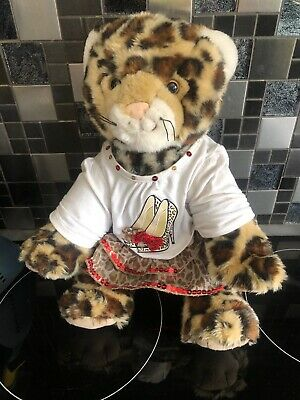 BUILD A BEAR LEOPARD / CHEETAH Soft Plush Toy With Matching Outfit