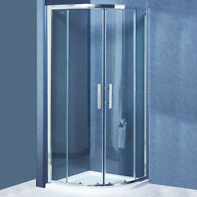 Offset Quadrant Shower Enclosure and Tray Corner Cubicle 6mm Glass Door Screen