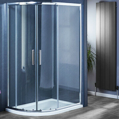 800/900/1000/1200 Offset Quadrant Shower Enclosure Corner Glass Cubicle And Tray