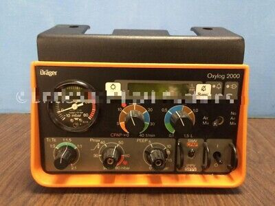 Drager oxylog 2000 .for ambulance and ICU good cosmetic no power source working