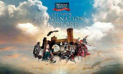 4 X WARWICK CASTLE TICKETS for Saturday 13th July only (E-Tickets) Sun Superdays