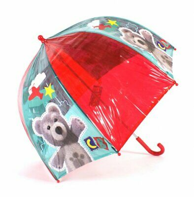Official Charley Bear Red And Green Transparent Bubble Dome Kids Umbrella