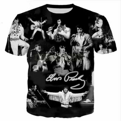Fashion Rock Singer Elvis Presley 3D Print T-Shirt Women/men Casual Short Sleeve