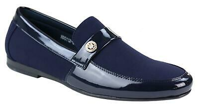 Mens Slip On Iconic Loafer Shoes Patent Shiny Leather Smart Casual