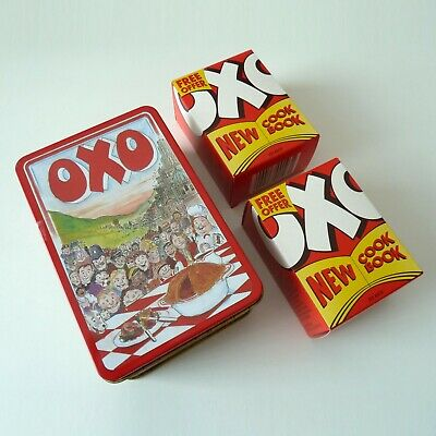 Vintage OXO Tin with Boxed OXO Cubes - 1990s designed By Martin Sanders - Prop