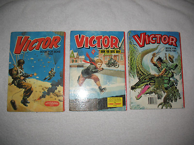 Victor Book for Boys Annuals x 3 - 1982, 1984, 1987