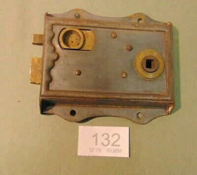 Antique  Brass And Steel Rim Door Lock  132