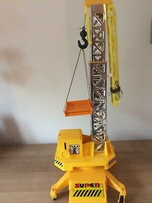 Rare 30 years old vintage authentic soviet Russian USSR plastic mobile crane to