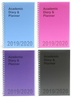 2019-2020 A5 Mid-Year ACADEMIC DIARY & PLANNER Week to View (School/Organiser)